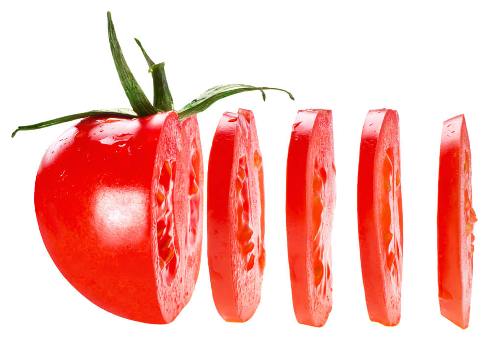 Perfectly Sliced Tomato