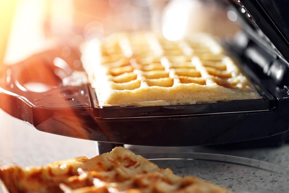 Fresh Waffles in a Waffle Maker