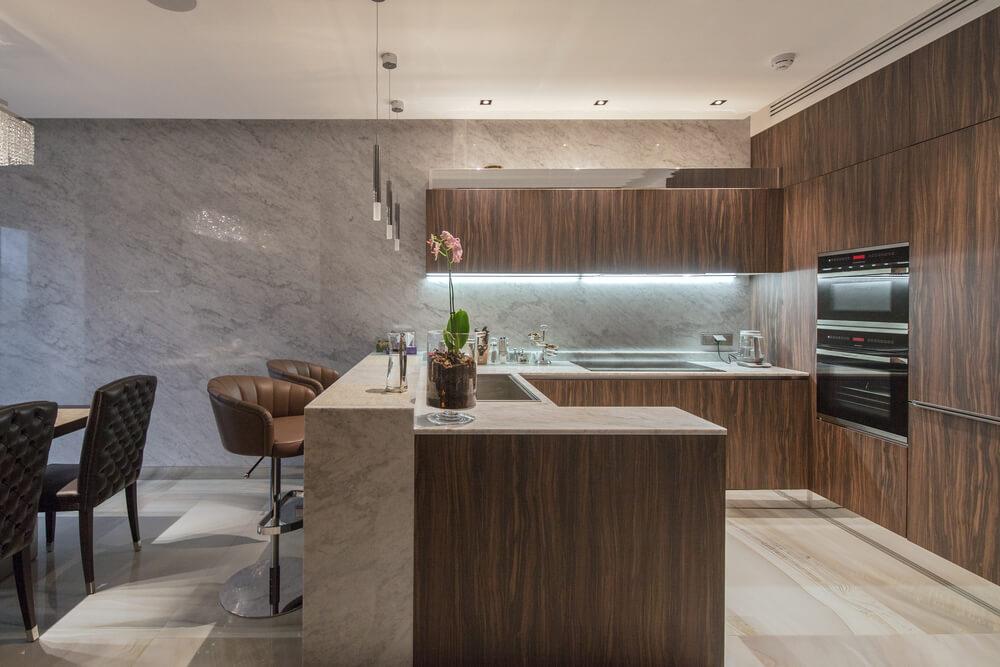 Luxurious Kitchen With Under Cabinet Lights