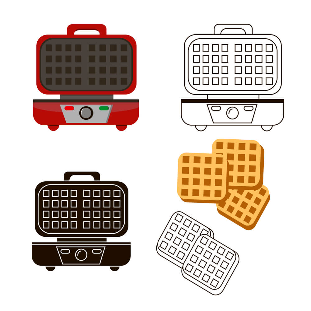 Red Waffle Maker