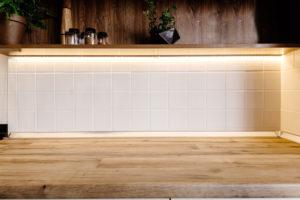 Under Cabinet with Kitchen Light