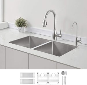 Zhune Double Bowl Stainless Steel Kitchen SInk