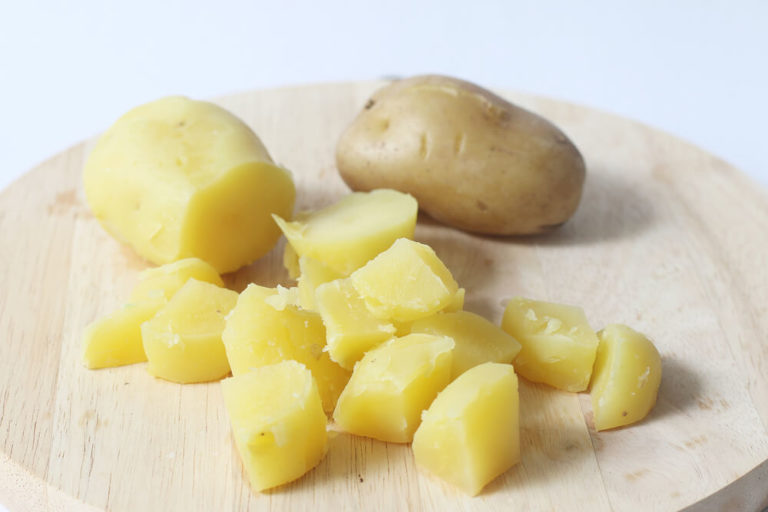 Cooked and Chopped Potatoes
