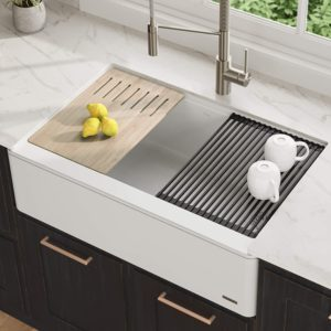 Kraus White Granite composite sink