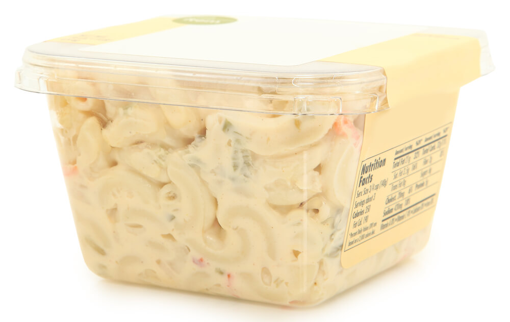Macaroni Salad in a Container