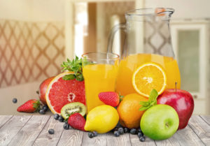 Fruit Juice on a Table