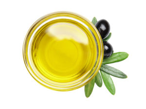 A bowl of olive oil