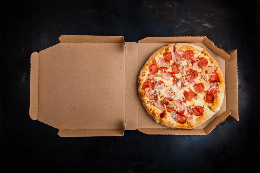 Pizza in Cardbaord