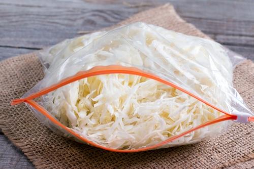 Freeze sauerkraut