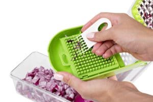 Cleaning a vegetable chopper