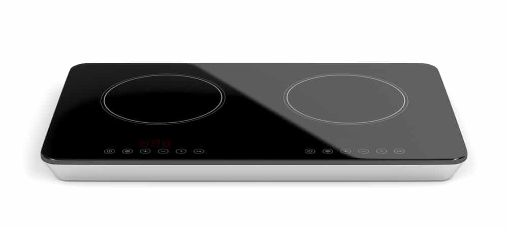 Double ceramic induction cooktop