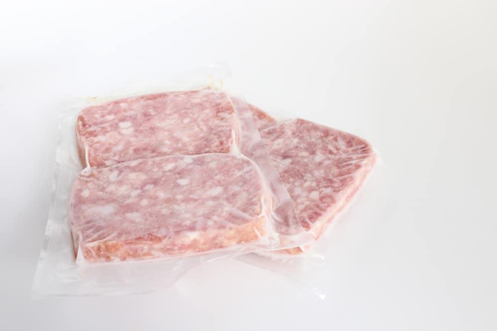 Meatloaf in plastic bag
